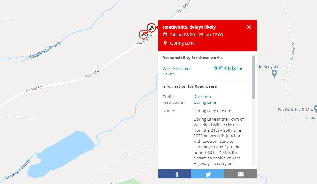 https://burghfieldparishcouncil.gov.uk/wp-content/uploads/2020/06/Goring-Lane-Closure.jpg