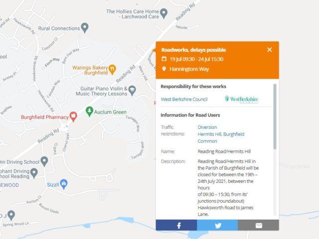https://burghfieldparishcouncil.gov.uk/wp-content/uploads/2021/07/Reading-Road-Hermits-Hill-Closure-640x480.jpg